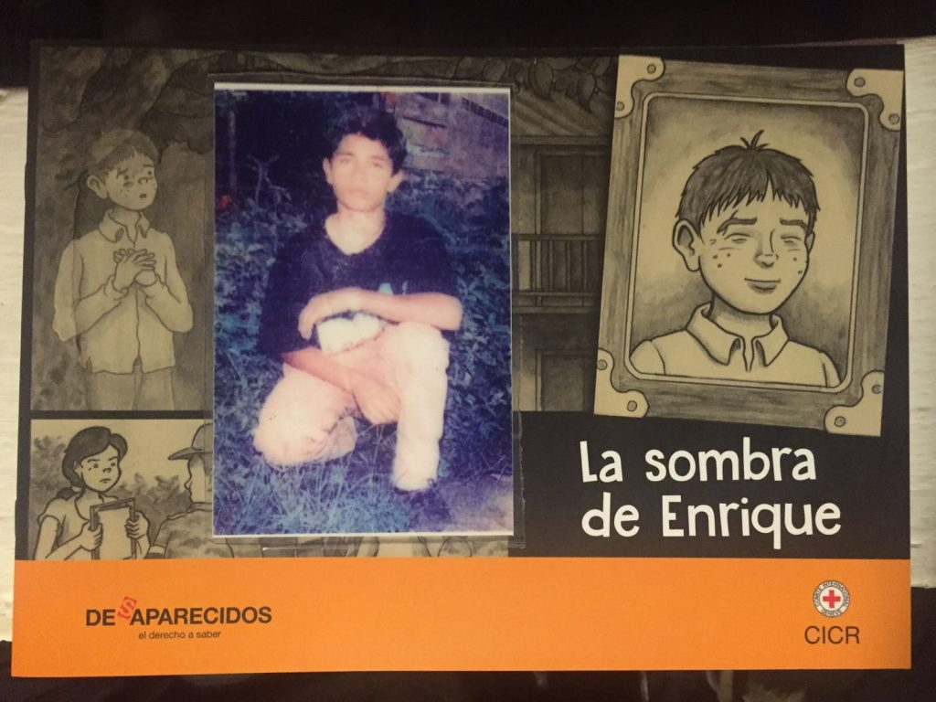 The last photo Enrique's family took of him, 3 days before he disappeared
